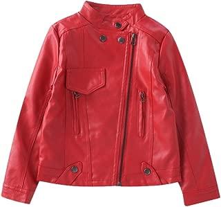 Girl's Faux Leather Moto Jackets Zipper Coat Outerwear