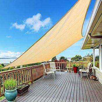 Kupton Sail Rectangle Canopy Awning Sun Cover