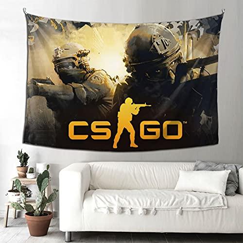 Tapiz para colgar en la pared CSGO Counter Strike Global Ofensivo Videojuegos Tapiz para dormitorio, decoración de la pared del hogar, manta de playa de 156 x 200 cm