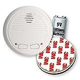 4X Nemaxx WL10 Detector de Humo inalámbrico - con 10 años de batería de lítio- de Acuerdo con la Norma DIN EN 14604 + 4X Fijación magnética