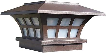 FEE-ZC Square Pillar Lamp Lantern Solar Post Cap Lights Outdoor Garden LED Waterproof Deck Fence Lights Lawn Floor Lamp Pa...