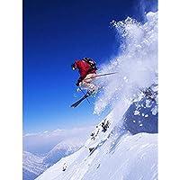 ポスター スキーヤースキージャンプスノースポーツスカイ A4サイズ [インテリア 壁紙用] 絵画 アート 壁紙ポスター