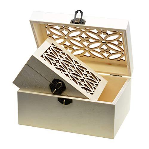 B Baosity 3pcs Boîte de Rangement Coffre au Trésor Cadenas Bricolage Cadeau Créatif