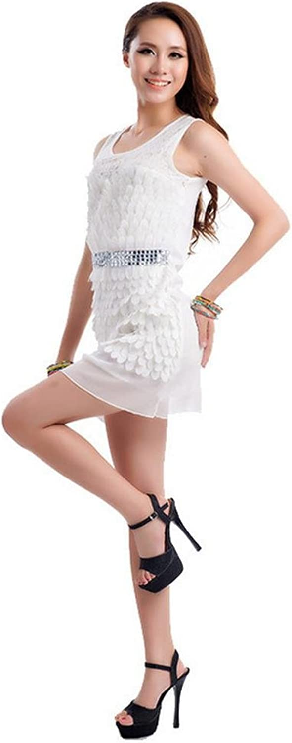 Byjia Female Adult Lace Diamond Latin Dance Clothes