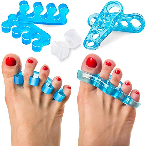 Toe Separators and Toe Straightener Restore Toes to Their Original Shape Gel Toe Stretcher Toe Spacers for Women and Men Hammer Toes Bunion Corrector Relaxing Toes