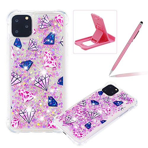 Best Deals! Herzzer Liquid TPU Case for iPhone 11 Pro Max,Shock-Absorbing Glitter Rubber Case for iP...