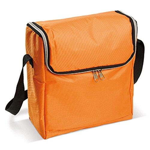 HAC24 Mini Kühltasche inkl. Gel-Kühlakkus | Kleine Kühlbox | Minikühltasche Dosen Flaschen (Orange)