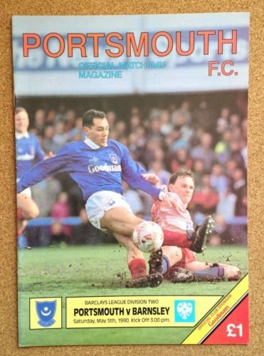 Portsmouth Barnsley 05/05/90 FRATTON Park POMPEY football programme (GR1)
