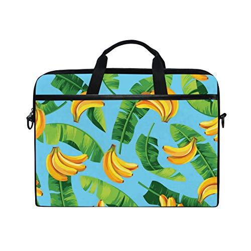 CPYang Laptop Bag Tropical Fruit Banana Palm Leaves Computer Laptop Case Notebook Laptop Shoulder Messenger Bag Sleeve for Boys Girls Women Men