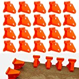 Flooring Spacers, Laminate Wood Flooring Tools,1/4' and 1/2' Gap Hardwood & Floating,Special Triangle Stay in Place,Compatible w/Vinyl Plank,Hardwood & Floating Floor Installation-(20pack)