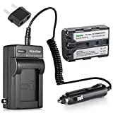 Kastar Battery and Charger with Car Charger for Sony NP-FM50 NP-QM51 and Sony Cyber-Shot DSC-F707 DSC-F717 DSC-F828 DSC-R1 DSC-S30 DSC-S50 DSC-S70 DSC-S75 DSC-S85 DSR-PDX10 HVL-ML20M HVR-A1 GV-D1000