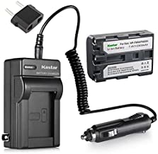 Kastar Battery and Charger w/Car Charger Replacement for Sony NP-FM50 NP-QM51 and Sony DSC-F707 DSC-F717 DSC-F828 DSC-R1 DSC-S30 DSC-S50 DSC-S70 DSC-S75 DSC-S85 DSR-PDX10 HVL-ML20M HVR-A1 GV-D1000