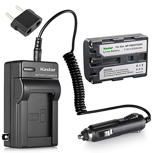 Kastar Battery and Charger w/Car Charger Replacement for Sony NP-FM50...