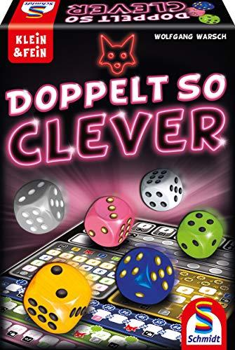 Schmidt Spiele 49357 Doppelt so clever, Würfelspiel aus der Serie Klein & Fein, bunt