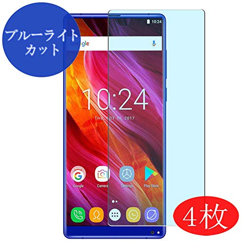 【4 Pack】 Synvy Anti Blue Light Screen Protector for Oukitel Mix 2 MIX2 Blue Light Blocking Screen Film Protective Protectors [Not Tempered Glass] New Version