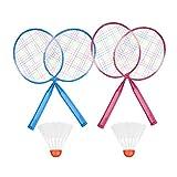 Tbest Raquette de Badminton, Raquette de Badminton en Alliage de Nylon Durable 2Colors pour Enfants(Red)