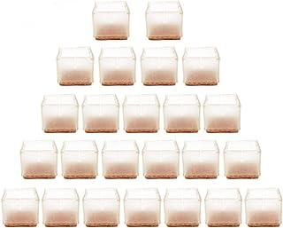 MIFXIN - Tapones antideslizantes para patas de silla, de mesa o de mueble, 24 unidades, silicona suave