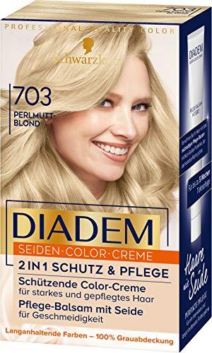 Schwarzkopf DIADEM Seiden-Color-Creme, hochwertige Haarfarbe 703 Perlmuttblond, 3er Pack (3 x 170 ml)