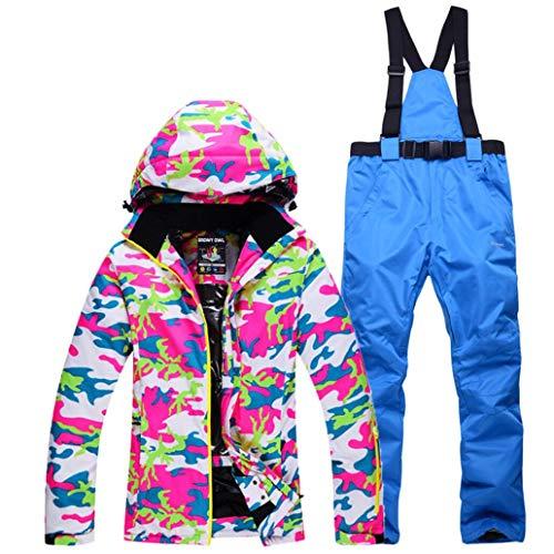 Z&X Damen Skijacke - Snowproof, Warme Damenjacke, Fleecegefütterter Skimantel, verstellbare Manschette - Ideale Skikleidung,2,S