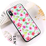 Colorful Dream- Phone Case for iPhone X XR Xs Max Retro Flower Green Leaves Soft TPU Floral Back Cover for iPhone 6 6s 7 8 Plus 5 5s SE,AC6555,for iPhone 7