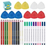 Swpeet 32Pcs Professional Sewing Tools Kit, Including 10Pcs Professional Tailor's Chalk and 12Pcs...