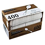 Blue Sky 276 400-Piece Disposable Plastic Tea Spoon Set, White
