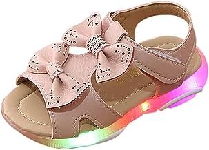 Riou Zapatos de Niña niños bebés Arcos Lindas Sandalias de Playa Huecas con Fondo Suave Zapatos Brillantes Deporte Antideslizante de Zapatos pequeños Infantiles Primeros Pasos