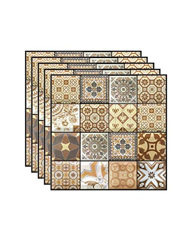 FBBULES 3D Fliesenaufkleber, Wandfliese Aufkleber Fliesenabziehbilder Tile Sticker Stick Selbstklebende Wohnkultur für Wohnzimmer Küche 5 Stück (30 x 30 cm / 11,8 x 11,8 Zoll)