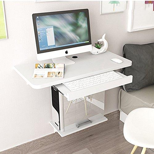 Computer MAZHONG Scrivania da Tavolo Pieghevole a Scomparsa con Tavolo fissabile a Muro (Colore : C, Dimensioni : 60cm*30cm)