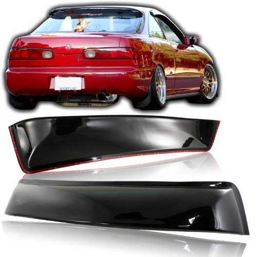 EPARTS Black Tinted ABS Plastic Rear Roof Window Visor Spoiler Wing Fit For 1994-2001 Acura Integra Coupe