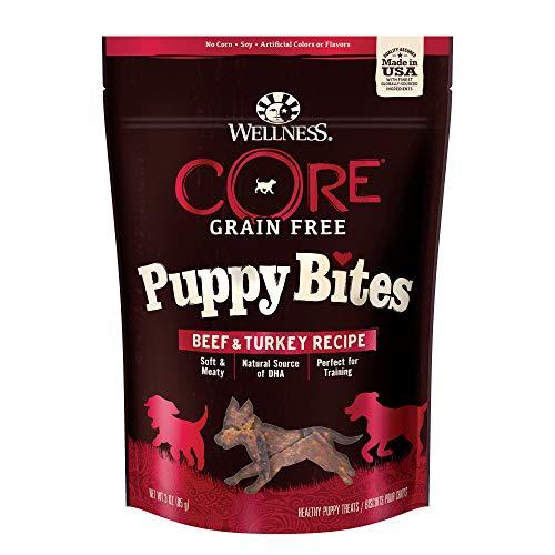 Wellness CORE Grain Free Puppy Bites, Beef & Turkey Recipe, 3 oz Bag