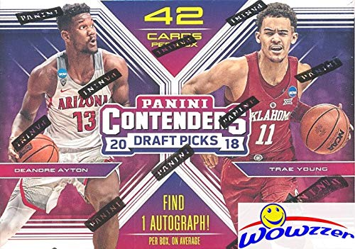 2018/19 Panini Contenders Draft Picks Basketball Factory Sealed Retail Box with AUTOGRAPH! Look for Rookies & Auto's of Deandre Ayton, Luka Doncic, Trae Young, Marvin Bagley & Many More! WOWZZER! (Auto Autograph Card)