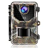 Miwkcam - Cámara de caza de 16 MP, cámara infrarroja invisible con 130 °, amplia visión, movimiento activado 0,2 s, modo nocturno, impermeable IP66, cámara de caza