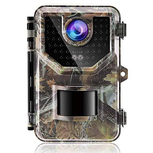 MIWKCAM Fotocamera Caccia 16MP Fototrappola Infrarossi Invisibili con 130° Ampia visuale Movimento Attivato 0.2s a Scatto Modalita  Notturna Impermeabile IP66 Camera per la Caccia