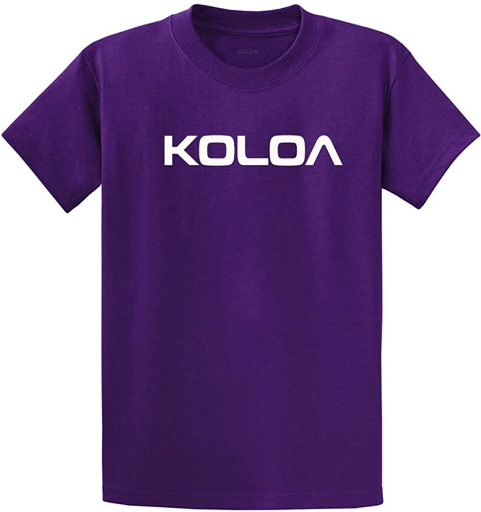 Koloa Surf(tm) Text Logo Cotton T-Shirts in Size Large Tall - LT Purple