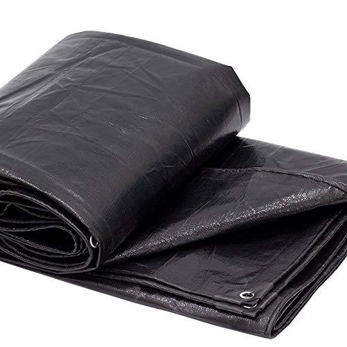WXQIANG Negro a Prueba de Lluvia camión Lona Capota Parasol paño Impermeable cobertizo de plástico Planta de jardín Lona Resistente al Viento 200g Tela de Filtro Solar/Metro Cuadrado (21 tamaños más