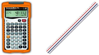 $63 » Calculated Industries 4065 Construction Master Pro Advanced Construction Math Feet-inch-Fraction Calculator & Staedtler 12...
