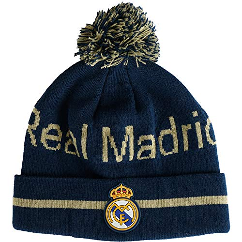 Real Madrid Mütze mit Bommel, offizielle Kollektion