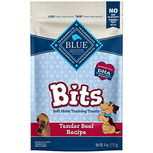 Blue Buffalo BLUE Bits Natural Soft-Moist Training Dog Treats, Beef Recipe 4-oz bag