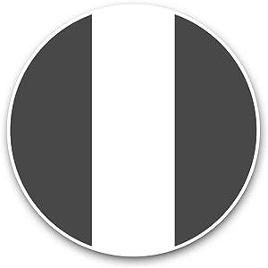Vinyl Stickers (Set of 2) 15cm Black & White - Nigeria Flag Map Laptop Luggage Tablet #41697