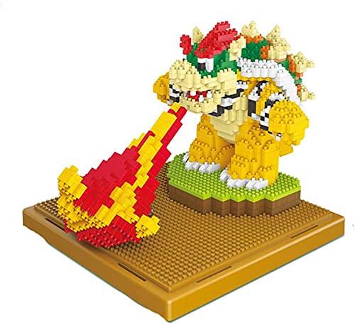 LNLJ Mario Serie Modelo De Personaje Yoshi Kuba Muñeca - Nano Mini Building Blocks Kits Niño Construcción Educativa DIY Toy Regalos,Kuba