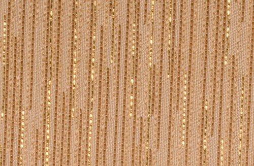 Mixibaby Übergardinenstoff in Dunkelem Cream Ton mit Goldenen Lametta Streifen eingearbeitet