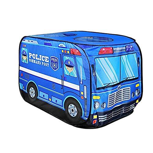 Cherishly Niños Pop Up Play Carpa Juguete Creativo Plegable Casa de Juegos Tela Simulación Camión de Bomberos Simulación Policía Carpa Coche Juego Casa Autobús Tienda