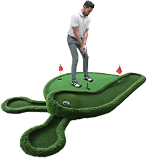 Alfombra Entrenamiento De Golf,Golf Putting Mat Entrenador De Golf De Interior Oficina Mini Putting Green Home Fairway Niños Adultos Set De Entrenamiento