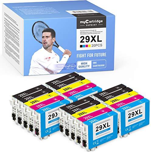 20 cartuchos de tinta myCartridge SUPRINT 29XL de repuesto para Epson 29 29XL compatibles con Expression Home XP-235 XP-240 XP-245 XP-247 XP-330 XP-332 XP-335 XP-340 XP-342 XP-345 XP-430 XP - 432