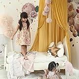 K9CK Betthimmel, Baby Baldachin Betthimmel Kinder Babys Bett aus Chiffon Insektennetz Deko Moskitonetz für Kinderbett - Gelb - 5