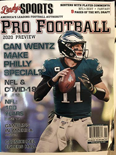 Lindy's Sports Pro Football Magazine 2020 Preview [Wentz Cover]