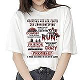 Camiseta Stranger Things Niña, Camiseta Stranger Things Mujer, Impresión T-Shirt Abecedario Camiseta Stranger Things...