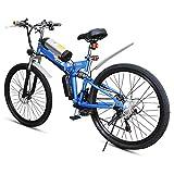 AGWa Bicicleta eléctrica plegable, bicicleta eléctrica plegable de 20 'Bicicleta plegable asistida por pedal de 200 W con 9 velocidades y batería de iones de litio extraíble de 36 V / 8,7 Ah