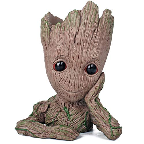 WangQ Model - Baby Groot Flower Pot - action figure for plants & pens from the classic film - perfect as a gift - I AM GROOT (A) /// (Color : A)
